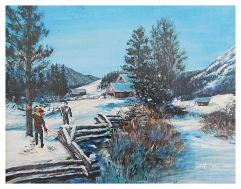 Freddy y Michael se enfrentan en medio de un paisaje nevado.