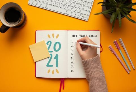 Propósitos de Año Nuevo para 2021.