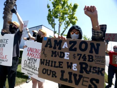 Protestas de los trabajadores de Amazon