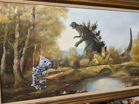 Una pintura terminada en el estudio.