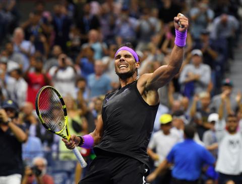 Rafael Nadal durante el US Open 2019, Estados Unidos.