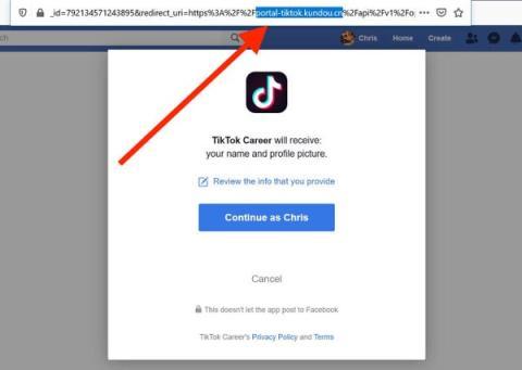 Cualquiera inicie sesión en TikTok Career será dirigido a un sitio web chino.