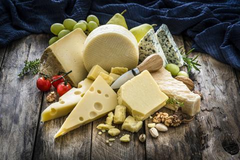 Variedad de quesos.