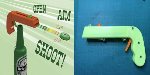 Abrebotellas pistola