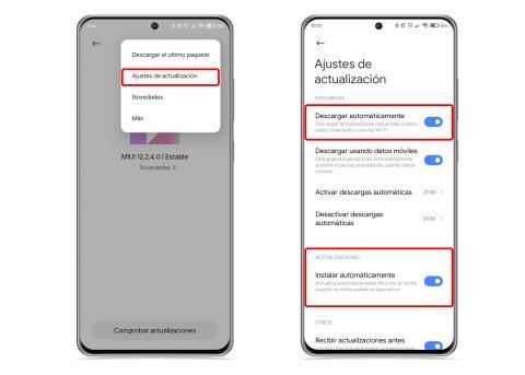 Activar actualizaciones automáticas en Xiaomi