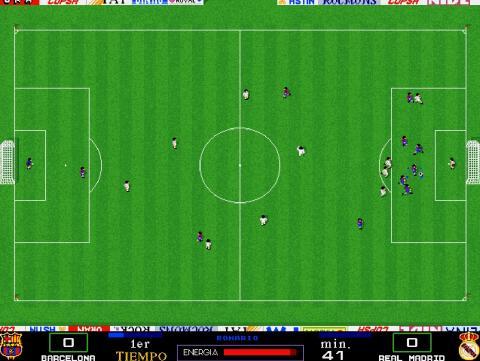 Barcelona Vs Real Madrid en el PC Fútbol de la temporada 93-94 (Internert Archive)