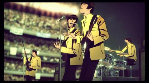 La introducción del videojuego The Beatles: Rock Band.
