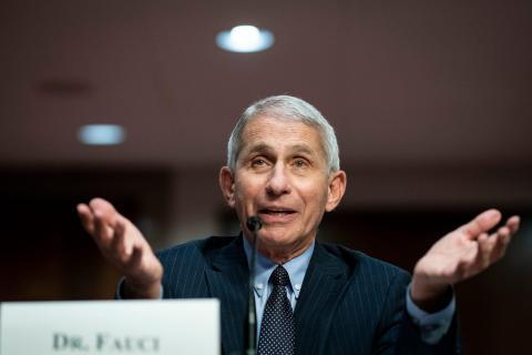 El doctor Anthony Fauci, director del Instituto Nacional de Alergias y Enfermedades Infecciosas de Estados Unidos, durante una audiencia en el Senado el 30 de junio de 2020.