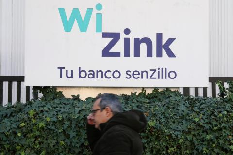 Un cartel de Wizink.