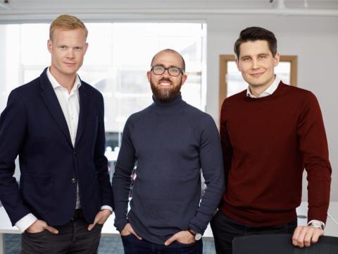 Los cofundadores de Zego, Harry Franks, Stuart Kelly y Sten Saar.