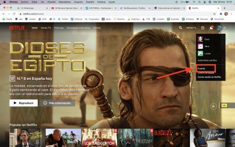 Cómo borrar el historial de Netflix