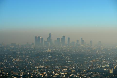 Contaminación en la ciudad de Los Ángeles.