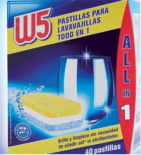 Detergente W5 de Lidl