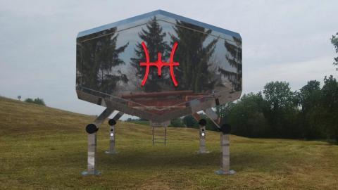 Diseño del prototipo de la vivienda Cyberhut que desarrolla Astroland
