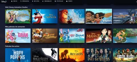 Disney Plus películas