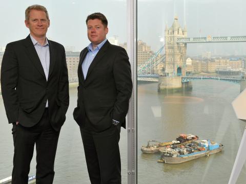 Simon Merchant y Andrew Thatcher, cofundadores de Flagstone.