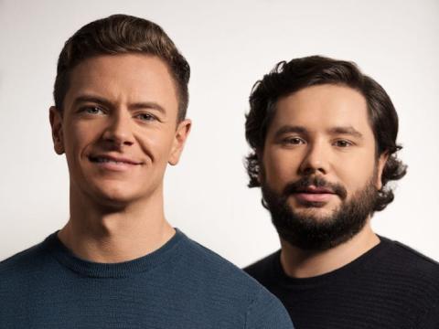 Los fundadores de Tickr, Tom McGillycuddy y Matt Latham.