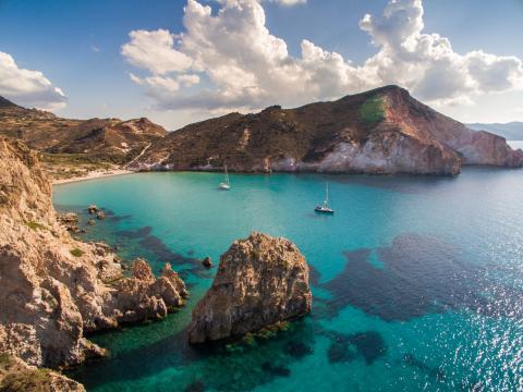 Una isla griega.