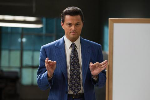 El protagonista de la película el Lobo de Wall Street consume cocaína tanto para trabajar como para desfasar.