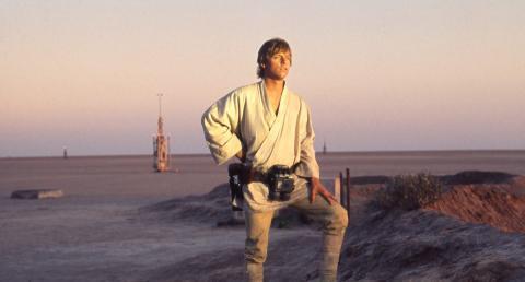 Luke Skywalker (Mark Hamill) en Star Wars: Una nueva esperanza