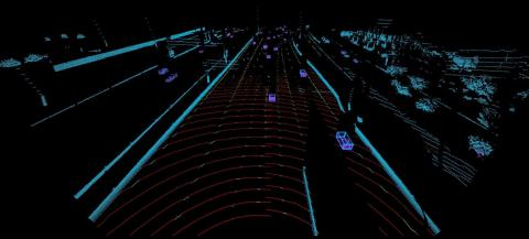 Highway perception via Luminar's lidar system.