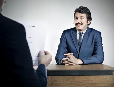 Mentiras entrevistas de trabajo