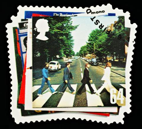 La mítica portada de Abbey Road.