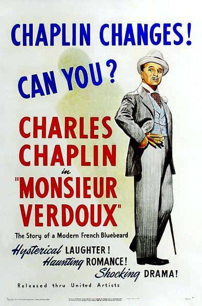 Monsieur Verdoux, películas de Chaplin