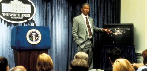 Morgan Freeman Deep Impact