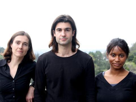 Kendra Kuhl, Nicholas Flanders y Etosha Cave, fundadores de Opus 12