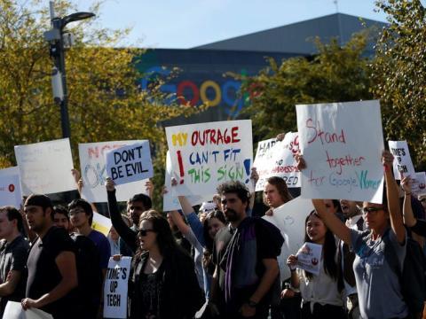Protesta de trabajadores de Google
