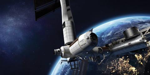 Una representación de AxStation, la primera estación espacial que está construyendo una empresa privada.