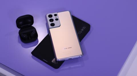 Samsung Galaxy S21 Ultra, funda y Buds Pro