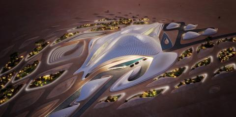 La sede central de Bee'ah en los Emiratos Árabes Unidos, diseñada por Zaha Hadid