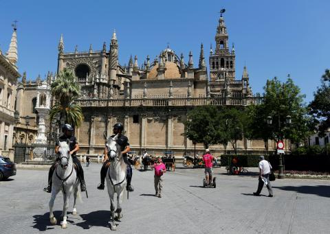 Vista de la Catedral de Sevilla en 2016.