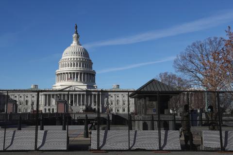 Una valla protege al Capitolio de nuevos ataques