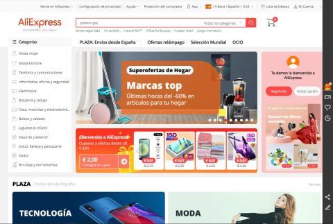 Web de AliExpress en España