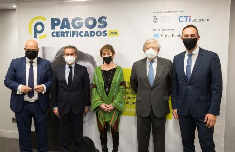 Abogacía Española presenta PagosCertificados.com.