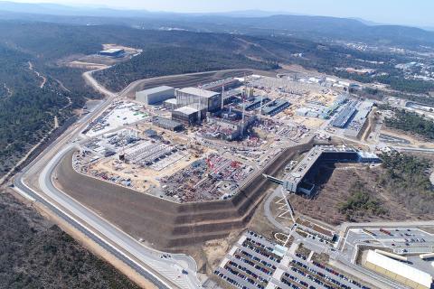 Vista aérea del área de construcción de Iter en 2018.