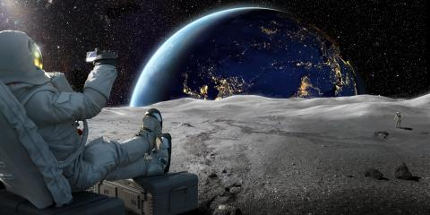 astronauta luna
