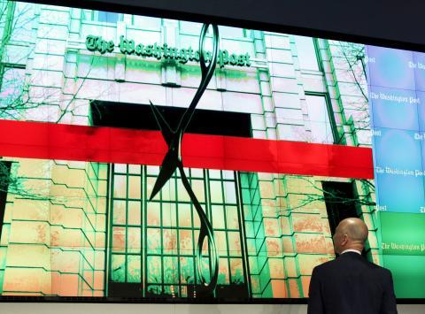Bezos en la inauguración de la redacción de The Washington Post en 2016.