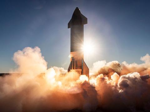 El cohete de SpaceX número 8 es lanzado desde Boca Chica (Texas) en diciembre de 2020