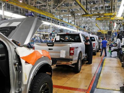 Planta de fabricación de la camioneta Ford F-150.