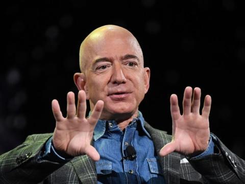 El CEO de Amazon, Jeff Bezos, en 2019.