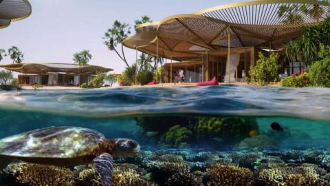 Concepto hotel de lujo