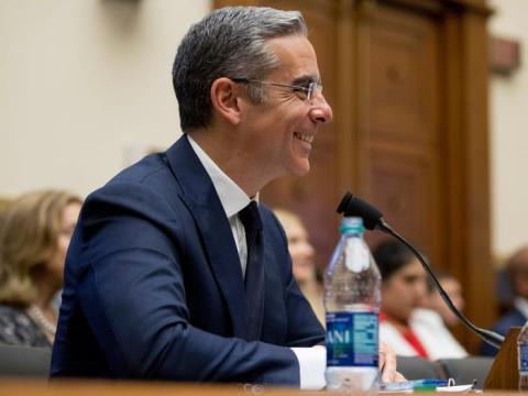 David Marcus, CEO del servicio de cartera digital Novi de Facebook, en una audiencia del Comité de Servicios Financieros de la Cámara sobre la criptomoneda propuesta por Facebook en Capitol Hill en Washington, el miércoles 17 de julio de 2019.
