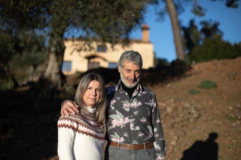 Eduardo Donato, junto a su hija, Marta Donato