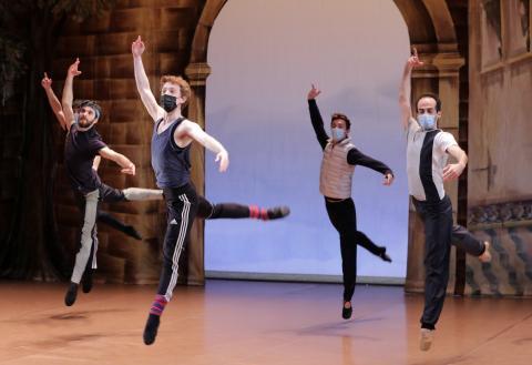 Ensayo del Ballet Don Quichotte en el Teatro de l'Opera de Niza.
