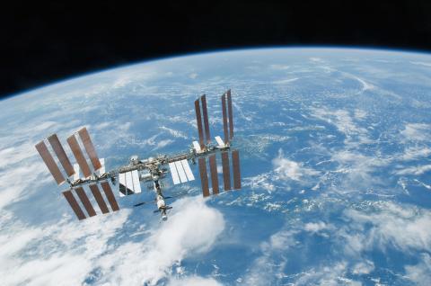 Imagen de la Estación Espacial Internacional, donde se han podido cultivar rábanos.