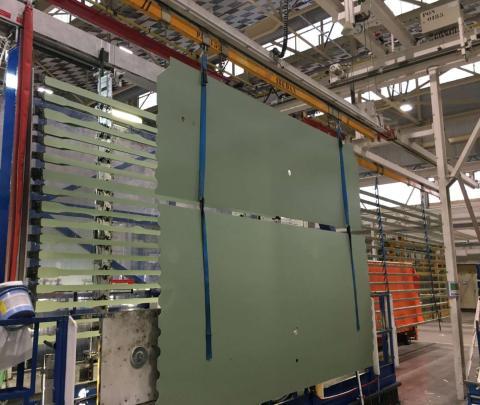 La fabricación del fuselaje central y la popa se realiza en Nantes